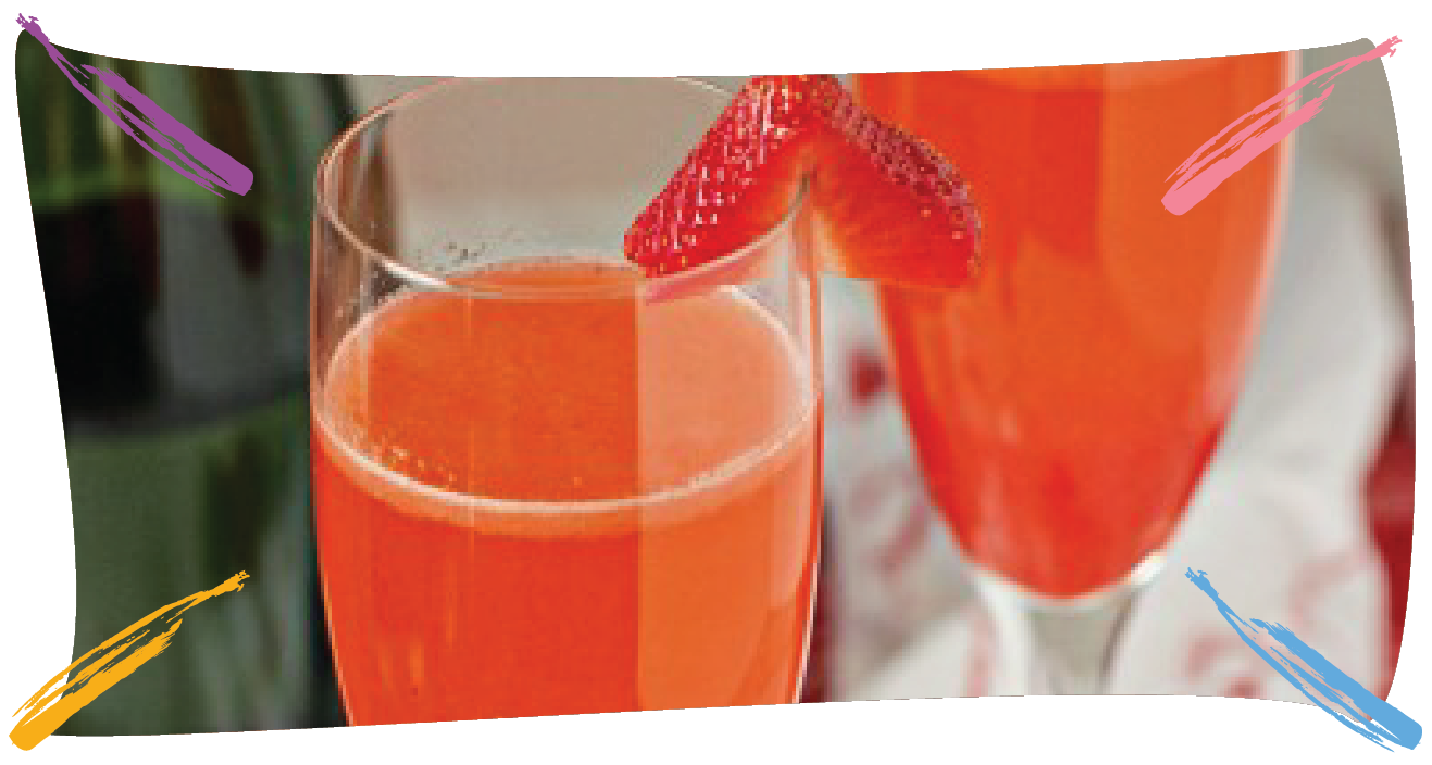 Strawberry Bellini Cocktail